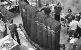 Rammed Earth Fabric Formwork Wall 2 UEL